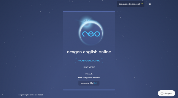 Landing page Neo Study
